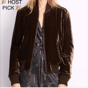 NEW Vince Velvet Bomber Jacket